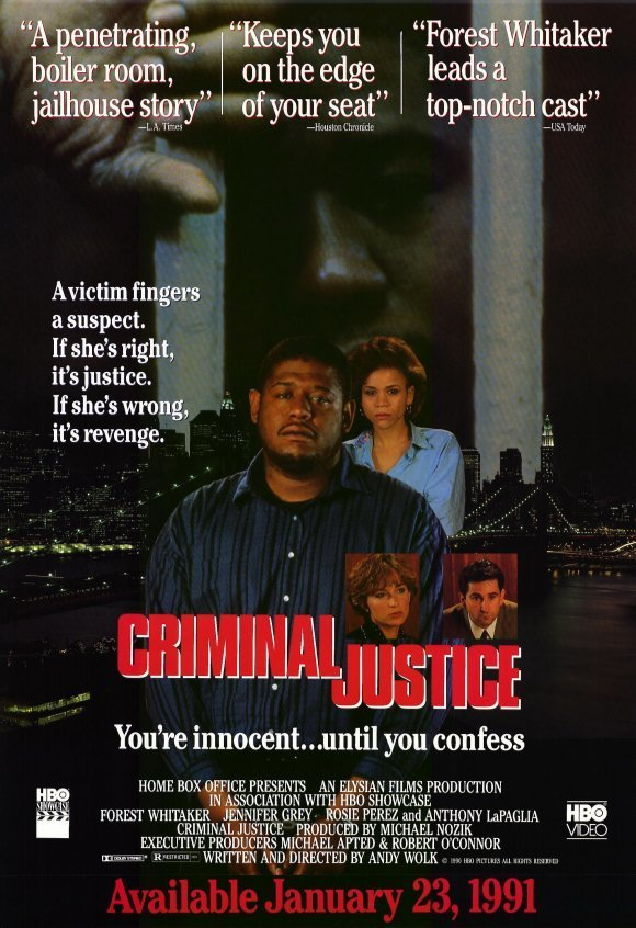 "Poster for the movie ""Criminal Justice"""
