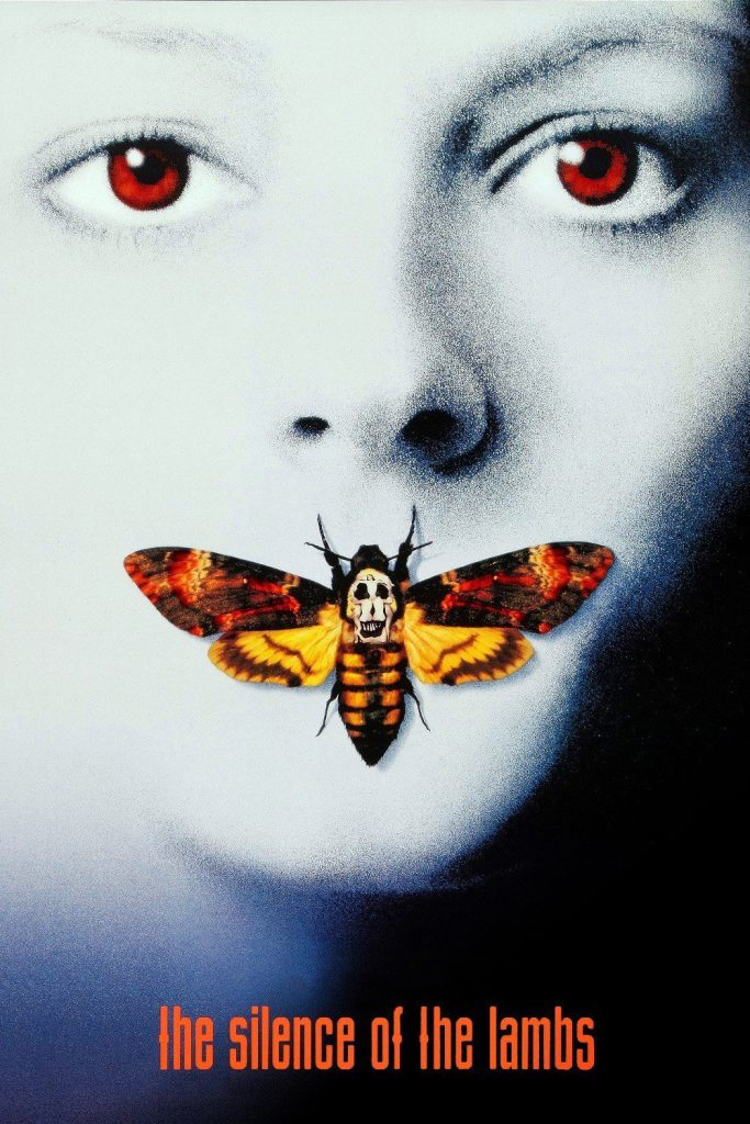 "Poster for the movie ""The Silence of the Lambs"""