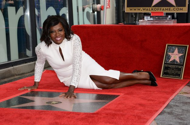 Actress Viola Davis is honored with her star on the Hollywood Walk of Fame ceremony in Hollywood, on January 5, 2017. / AFP PHOTO / CHRIS DELMASCHRIS DELMAS/AFP/Getty Images